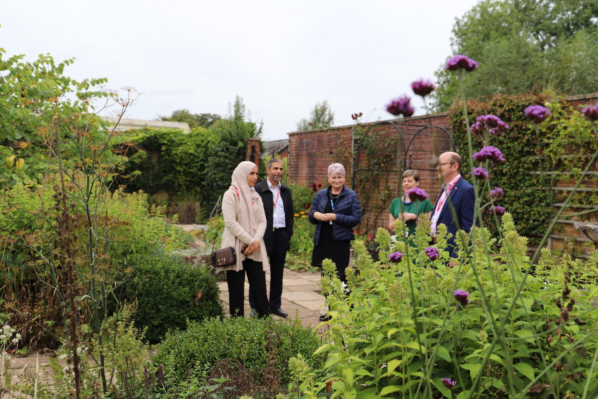 Enjoying the walled garden at Derwen College